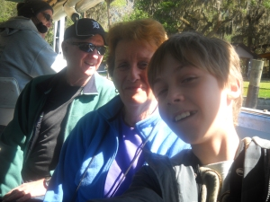 Jules with Grandma Ann & Grandpa Clark