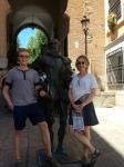 With Señor Cervantes